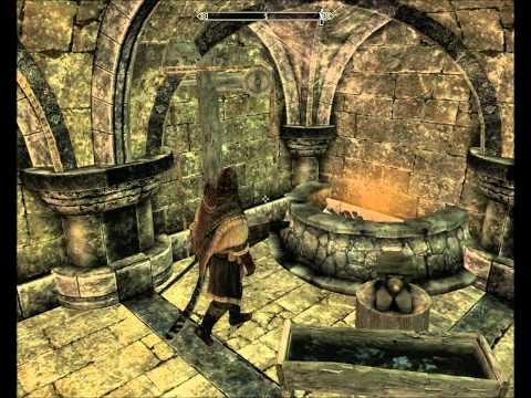 Skyrim - How to create / add a blacksmithing forge station to any home! 1080p