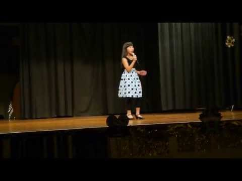 "Sophia Huang (age 10) sings ""Beautiful""  at Dublin El Talent Show March 2012"