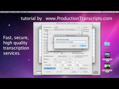 Create low rez H.264 MP4 video using MPEG StreamClip
