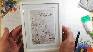 Make it Monday # 40 Beautiful framed gift (Stampin'Up!)
