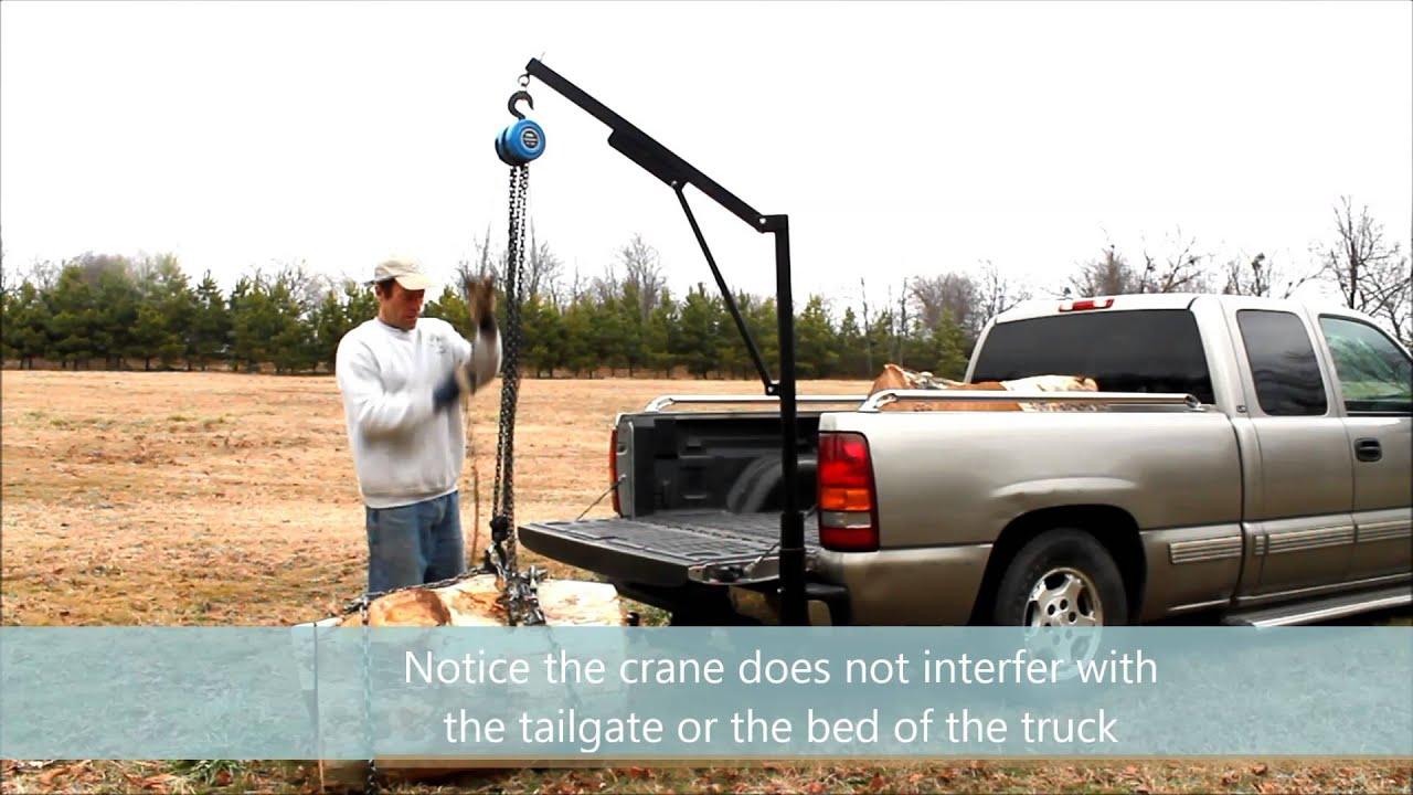 Homemade Truck Crane Youtube