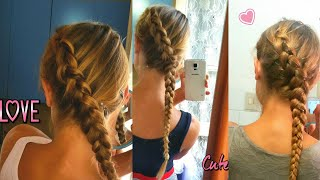 TUTORIAL EASY TRECCIA FRANCESE RIALZATA O TRECCIA OLANDESE DI LATO| HOW TO MAKE A FRENCH DUTCH BRAID