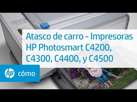 Atasco de carro - Impresoras HP Photosmart C4200, C4300, C4400, y C4500