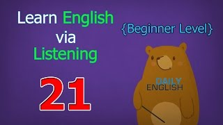 Learn English via Listening Beginner Level | Lesson 21 | Daily Schedule