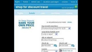美国旅游网站订票教学 Hotels.com, Priceline.com