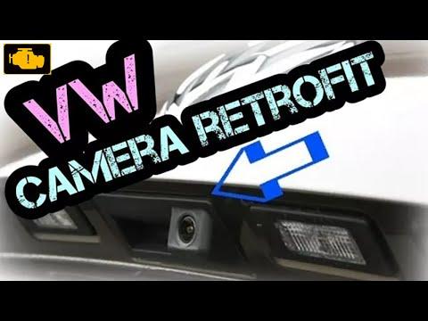 CAMERA - How to install  VW REAR VIEW CAMERA KIT PASSAT Variant TIGUAN TOURAN GOLF RNS315/510 PDC