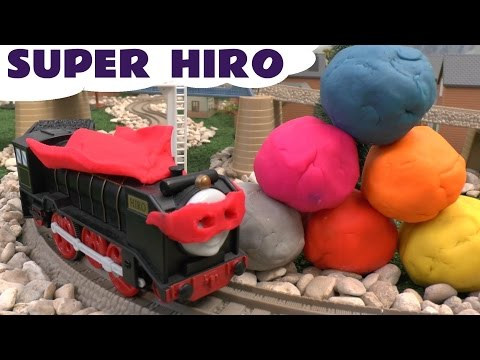 Thomas And Friends Super Hero Hiro Play Doh Surprise Egg Rc Remote Control Huevo Sorpresa Playdough video