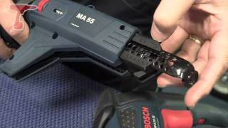 How to load screw strips into the Bosch MA-55