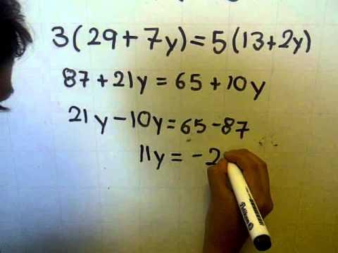 Como resolver un ecuación simultanea de primer grado por el metodo de igualacion