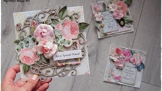1 Kit - 3 Cards Tutorial - My Creative Scrapbook LE kit ♡ Maremi's Small Art ♡