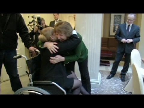 EU chief greets Yulia Tymoshenko and pledges support to Ukraine