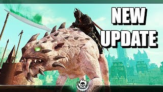 SHADOW OF WAR - NEW UPDATE MASK OF THE UNDYING UNIQUE BETRAYALS TANK OVERLORD IN DESERT
