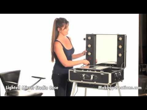Makeup Cases Pro Lighted Mirror Studio Case Best For