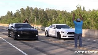 Supercharged Camaro vs Devil Z, Sloyote, Audi RS4, Pontiac G8, & Scatpack Challenger STREET RACING