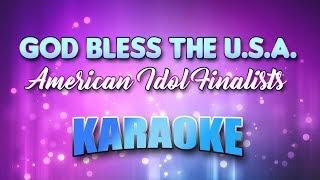 American Idol Finalists God Bless The U S A Karaoke