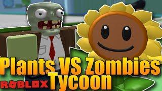 ROSTLINKY VS ZOMBÍCI!😱😂 | ROBLOX: Plants vs Zombies Tycoon #1