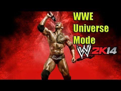 WWE 2K14 WWE Universe Mode Part 1 Introduction Walkthrough