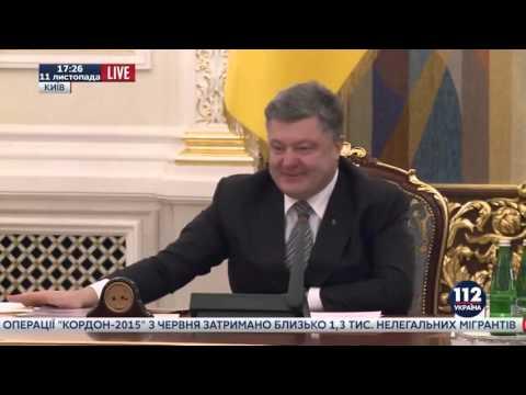 Пьяный Порошенко снова дует в уши очередной бред