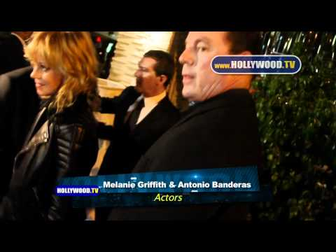Salma Hayek, Antonio Banderas, Melanie Griffith Dine at Red O- Hollywood.TV