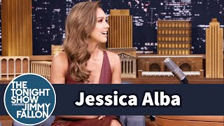 jessica alba teaches jimmy about swass