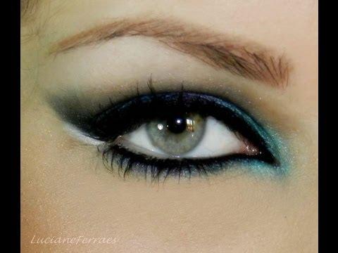 Maquiagem para noite, azul e violeta, com Luciane Ferraes