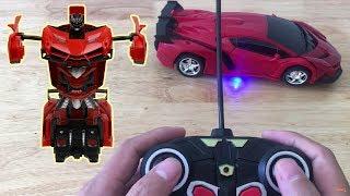 Xe Ô Tô Điều Khiển Từ Xa Biến Hình Robot   Đồ Chơi Trẻ Em   Chị Kiều Hương