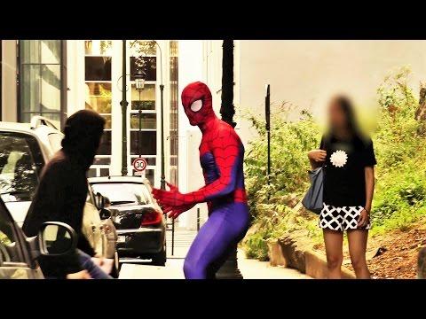 SPIDER MAN Fights Crime PRANK