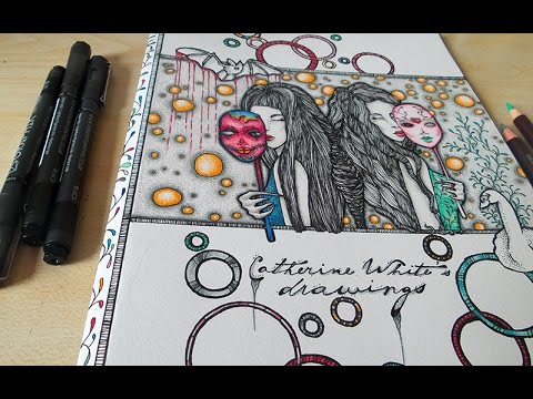 Cool Designs To Draw On Your Binder Binder Cover Drawings