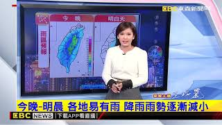 氣象時間 1070109 晚間氣象 東森新聞