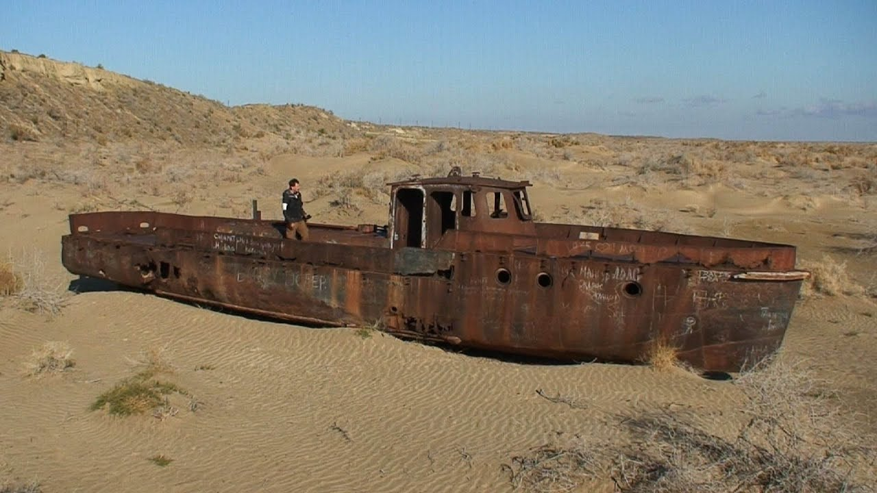 The Dried up Aral Sea ...