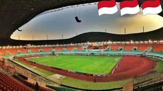 Asian game 2018.stadion pakansari bogor renovasi rumput.