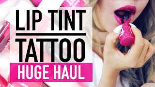 48 Hour Lip Tint Tattoo OMG not PEEL OFF!! ♥ HUGE Korean Lip Tint Haul & Swatches ♥ Wengie