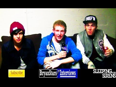 Sleeping With Sirens Interview #3 Featuring Pierce The Veil & DeeFizzy 2012