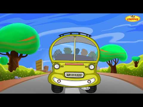 Wheels On The Bus || English Animated Rhymes || Nursery Rhymes For Kids video