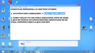 Conectar impresora a router livebox Windows 8