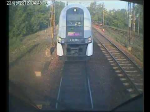 Wypadek Kolejowy W Warszawie Z Kabiny Maszynisty
