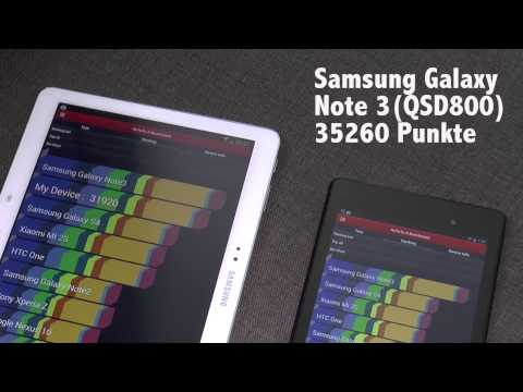 Samsung Galaxy Note 10.1 2014 vs. Nexus 7 2013 - Benchmark (Deutsch)   tabtech.de
