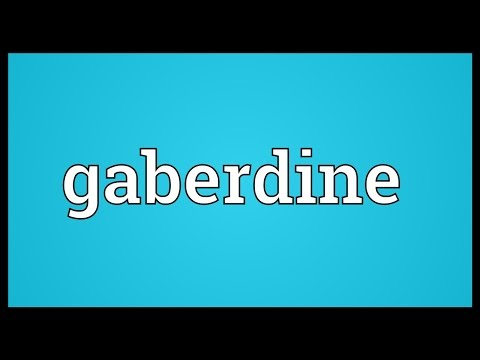 Header of gaberdine