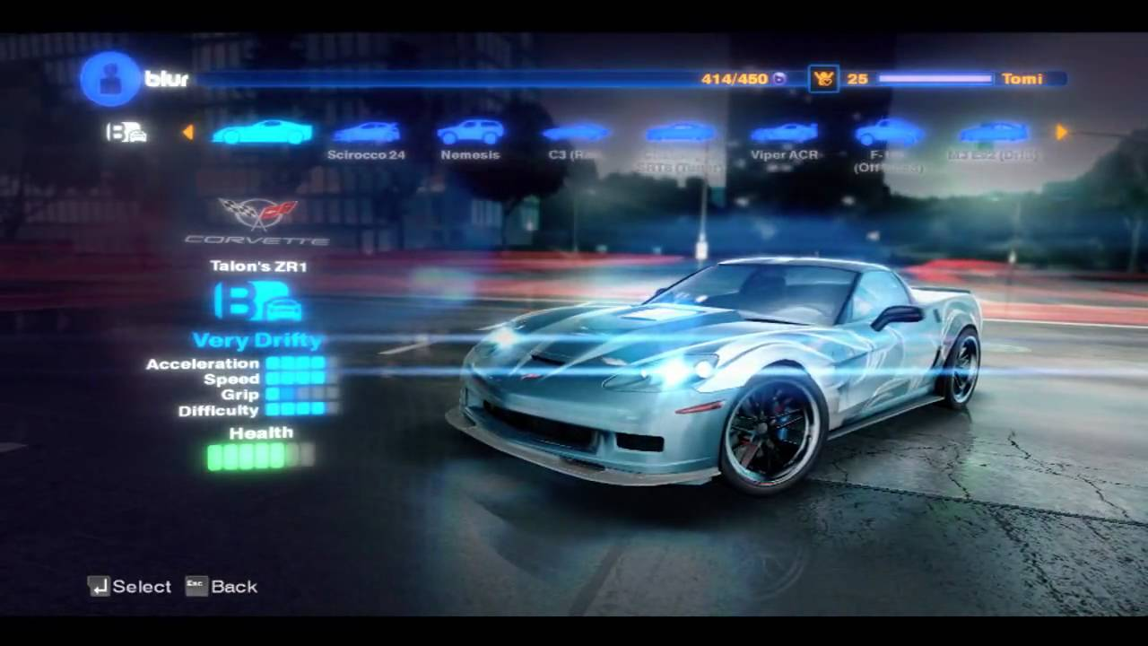 Blur 2010 All Cars Review HD - YouTube