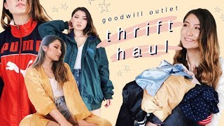 $1 THRIFT HAUL (try on goodwill outlet haul)
