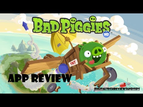 Bad Piggies GAMEPLAY & APP REVIEW. by Makers of 'Angry Birds'. Rovio Mobile (For Android and iOS)