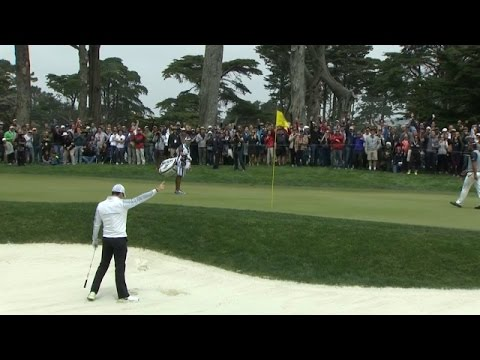 Rory McIlroy holes 35-foot bunker blast at Cadillac Match Play
