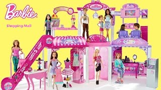 Barbie Life in the Dreamhouse Malibu Mall with Dolls Unboxing Assembly Dolls Toy Play