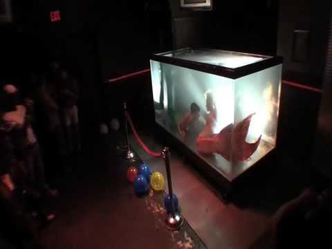 """""""Mermaid Melissa"""" in Underwater tank performing live shows"""