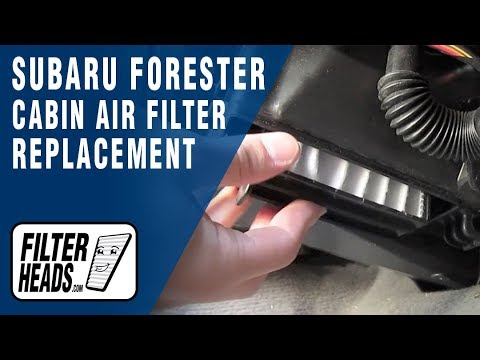 Cabin air filter replacement- Subaru Forester