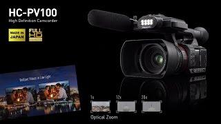 Panasonic HCPV100 New SemiPro Video Camera Main Fe
