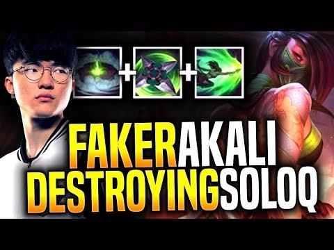 Faker is Destroying Korea SoloQ with New Akali! - SKT T1 Faker Picks New Akali Mid! | SKT T1 Replays