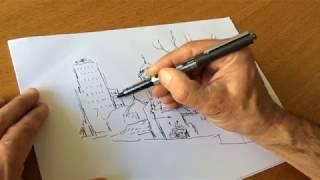 """Nicolas de Crécy : """"Comment j'ai dessiné """"Mexico"""""""", la leçon de dessin"""