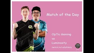 OpTic Gaming vs Luminosity | CWL Pro League 2019 | Division A | Week 2 | Day 4