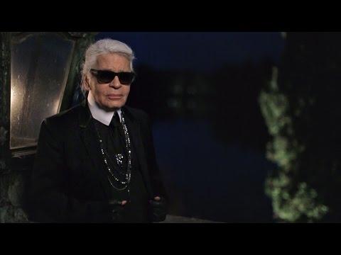 Karl Lagerfeld's Interview - Métiers d'Art 2014/15 Paris-Salzburg CHANEL show
